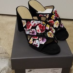Ann taylor Jeanette Embroidered mule
